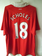 SCHOLES !!!! 2010-11 Manchester United Home Shirt Jersey Trikot XL