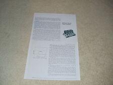 McIntosh MC240 Tube Amplifier Review, 2 pgs, 1961, RARE