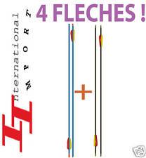 ARC a Flèche de CHASSE 4 FLECHES PRO Tir à l'arc !!