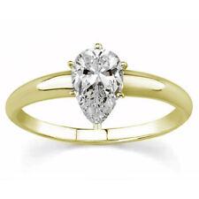 Verlobungsring, Antragsring 585 Gelbgold Diamant 1,00ct R+/SI1 GIA zertifiziert