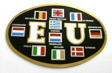 Auto-Aufkleber EU Kennzeichen Europa 10 Länder B GB F D IRL NL GR I 70s Oldtimer