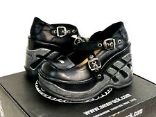 New Rock Negro Cuna Sport Platform Shoes M9842 S10  Womens Size 38