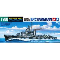 Tamiya 31911 U.S. Navy Destroyer DD412 Hammann 1/700