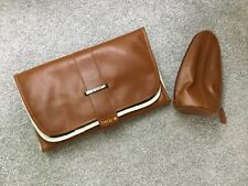 Babybeau Tan Brown Faux Leather Leatherette Changing Nappy Clutch Bottle Bag