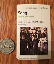 Elvis Costello card, New Basement tapes, Starbucks expired card 2014, nice Rare