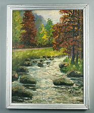 Künstlerische Malerei mit Expressionismus-Kunststil Holz-Öl