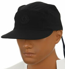 NEW MONCLER BLACK SOFT STRETCH LOGO BASEBALL CAP HAT ONE SIZE AUTHENTICITY CODE