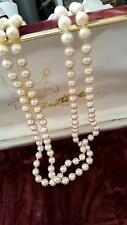 PEARL TWO TEIR BEAUTIFUL PEARLS 9CT GOLD CLASP /ORIGINAL BOX ABSOLUTELY STUNNING