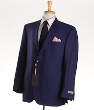 NWT $2995 CANALI EXCLUSIVE 1934 Royal Blue 'Super 150s Travel' Wool Suit 44 R
