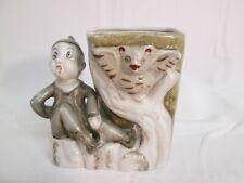 elf scared/pixies/figurines/v intage vase/made in japan