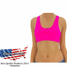 New Sports Bra Seamless Racerback Light Exercise Yoga Fitness Top with Padded