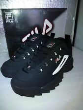 FILA DISRUPTOR II 2 BLACK/WHITE/RED CROSS-TRAINING TRAINER AUTHENTIC US MEN SZ 9