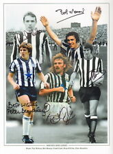 NEWCASTLE LEGENDS SIGNED PHOTO x 5- ROBSON-BOBBY MONCUR-KILCLINE-BEARDSLEY-ETC