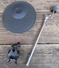 """Yamaha PCY100 10"""" Three Zone Trigger Cymbal Pad w/ 18"""" Mount and Clamp"""