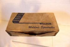 RARE ANTIQUE WILLSON WELDER GLASS SPECTACLES WITH ORIGINAL BOX GLASSES