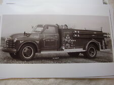 1952 CHEVROLET FIRETRUCK REYNOLDSVILLE PA    11 X 17  PHOTO   PICTURE