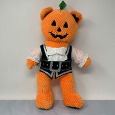 "BAB Build A Bear Pumpkin Teddy Halloween 18"" Plush Orange Jack O Lantern Pirate"