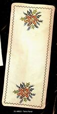 """Vintage Bucilla """"Holiday Spray"""" Christmas Stamped Cross Stitch Table Panel Kit"""