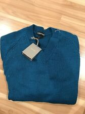 NWT $1170 TOM FORD  COTTON Sweater Slim small Turquoise Blue-Green Knit