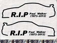 2x Paul Walker  Set Auto Aufkleber  Car Sticker  Fast and Furious RIP