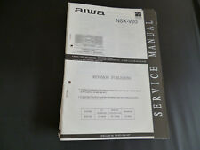 ORIGINALI service manual AIWA nsx-v20