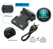 1080P HDMI Female to VGA Male with Audio Output Cable Converter Adapter Lead UK