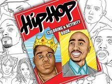 HIP-HOP Coloring & Activity BOOK. Tupac Drake Eminem Biggie Rap Music Kanye West