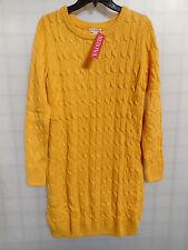 Merona Long Sleeve Gold Knit Sweater Dress Size Large