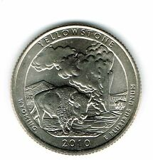 2010-D Brilliant Uncirculated Yellowstone National Park Quarter Coin!