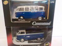 Double Set, VW Samba, +, Vw Pick - up, Metal Model.  Cararama  1/43 Scale Car