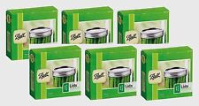 6 New Box/12 Ball WIDE Mouth Dome Lids For Mason Jars Canning Preserving #42000