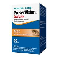 Bausch & Lomb Preservision Lutein 60 tablets 1 months supply FREEPOST