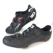 Sidi Genius 5 Fit Carbon Road Cycling Biking Shoes Black Mens Sz 44 US 10 Strap