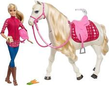 Barbie Dream Horse & Doll Blonde Voice & Touch Activated New
