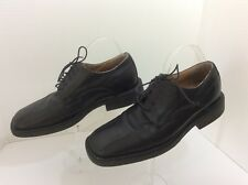 Franco Fortini Men's Shoes Size 9.5 M Black*Bicycle Toe*Lace Up *MADE IN ITALY*