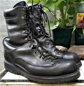 US Army MATTERHORN BOOTS COMBAT Size 8 W Black Military Commando GoreTex Genuine
