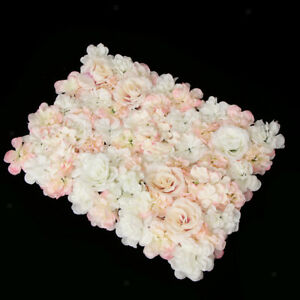 6pcs Artificial Rose Hydrangea Flower Wall Panels Wedding Decor 60 x 45cm