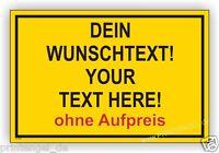 Warn,Schild,Schilder,Aufkleber,Hinweis,Baustelle Individuell Text nach Wunsch B2