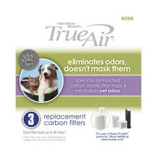 Hamilton Beach 3 Replacement Carbon True Air Purifier Filter-Eliminate Pet Odors
