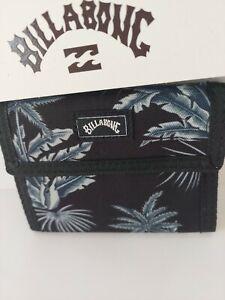 BILLABONG TRIBONG Palms Charcoal SURF WALLET MENS BOYS NEW  LOGO polyester tri