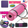 "Extra Thick 10mm Exercise Yoga Pilates Mat Gym Fitness NBR 72""x 24"" w/ Bag Strap"