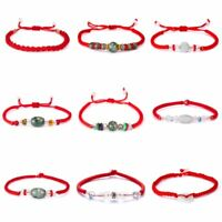 Unisex Women Men Handmade Lucky Red String Adjustable Braided Lovers Bracelet