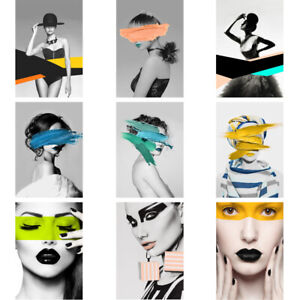 """24*36"""" Modern Lady Woman Art Pictures Prints Wall Decor Poster Unframed"""