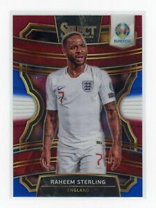 Raheem Sterling 2020 Panini Select UEFA Tri Color Terrace Prizm England SP