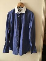 Tommy Hilfiger Vintage Shirt Men's Size 16- 34/35 Checked Blue Great Condition