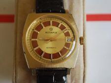 Vintage RODANIA GP 17J Automatic Men's Watch w/Date & Two Tone Dial