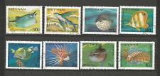 1984 poisson Vietnam Y&T N°505A à 505H 8 timbres oblitérés /T4355