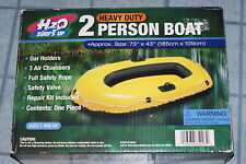 """2 Person Boat Inflatable Approx 73"""" x 43"""" oar holder 3 air chamber Dinghy"""
