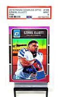 2016 Optic PINK REFRACTOR RC Cowboys EZEKIEL ELLIOTT Rookie Football Card PSA 9