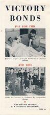 World War II Victory Bonds Adv. Brochure for Hospital Ships & Wounded Veterans